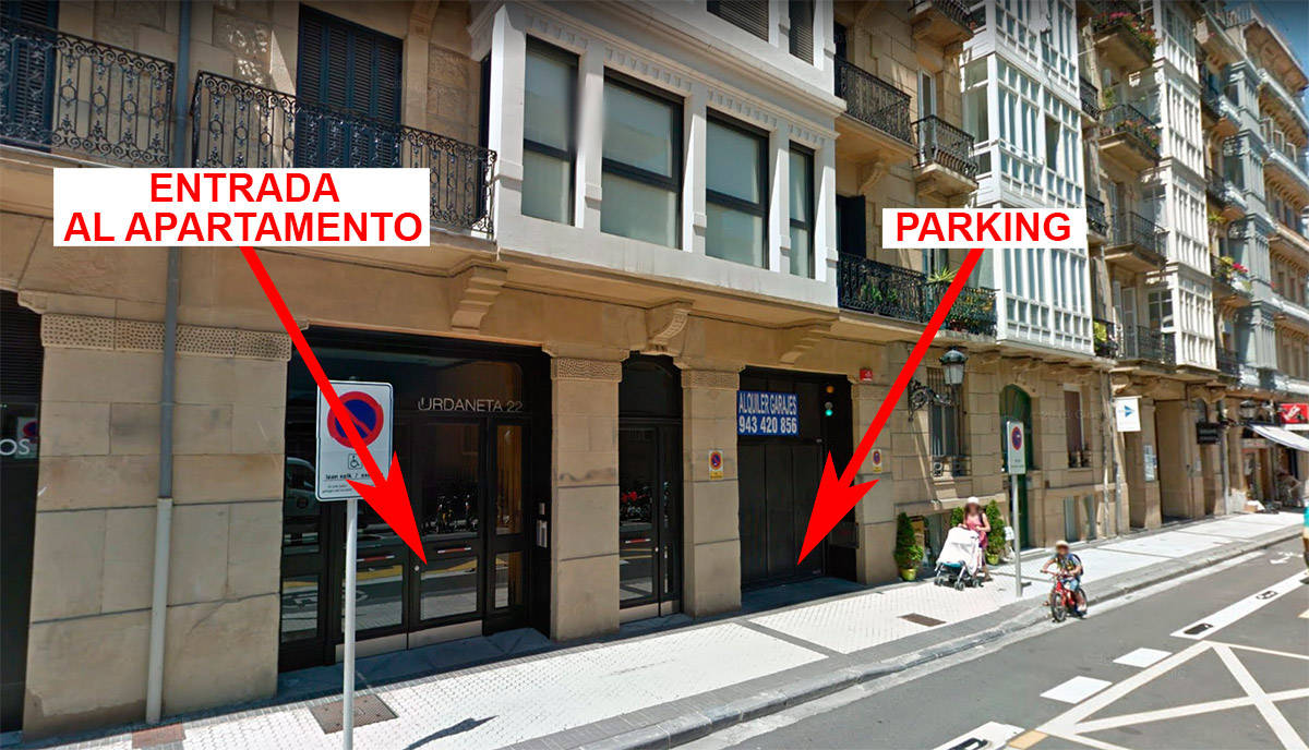 parking incluido en el apartamento easo center blog iberorent apartments san sebasti n. Black Bedroom Furniture Sets. Home Design Ideas
